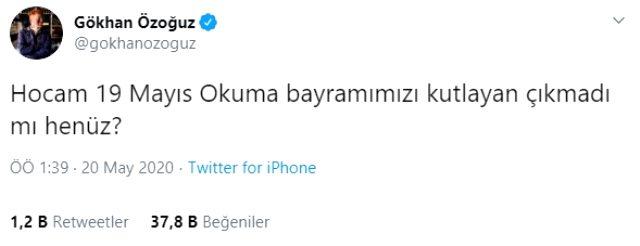 Gökhan Özoğuz, 19 Mayıs ile 23 Nisan'ı karıştıran Arda Turan'ı tiye aldı