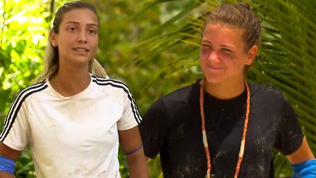 Sembol oyununu kazanan Nisa, kadınların aç kalmasını istemediği için yemek ödülünü Evrim'le paylaştı