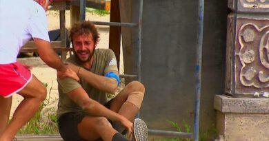 Gönüllüler takımından Cemal Can, dokunulmazlık oyununda sakatlandı