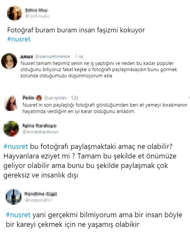 Nusret Gökçe'nin mandalar içinde verdiği pozuna sosyal medyada tepki yağdı