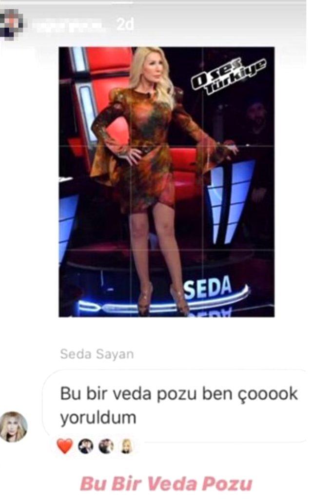 Seda Sayan, O Ses Türkiye jüriliğinden ayrıldı