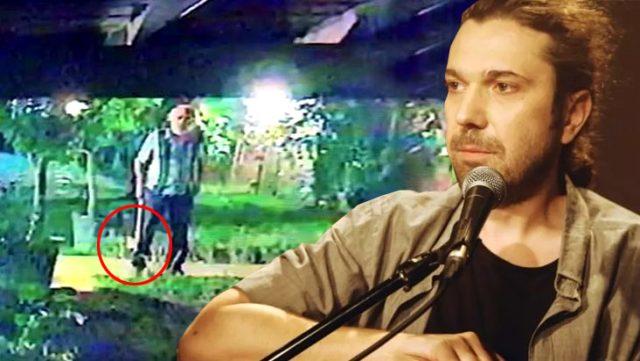 Halil Sezai soruşturmasında yeni görüntüler ortaya çıktı! Dövdüğü komşusu elinde baltayla şarkıcının evine gelmiş