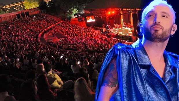 Harbiye'de sahne alan Mabel Matiz'in konserinde sosyal mesafe kuralı unutuldu