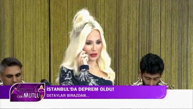 Lerzan Mutlu, dün İstanbul'da meydana gelen depreme canlı yayında yakalandı
