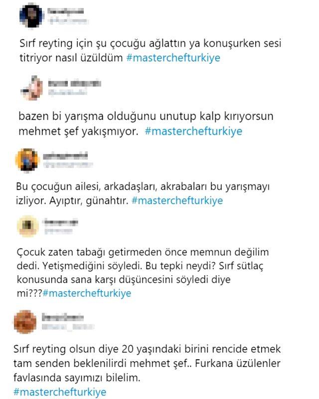 MasterChef'te Furkan'ı azarlayıp ağlatan şef Mehmet Yalçınkaya'ya tepki yağdı