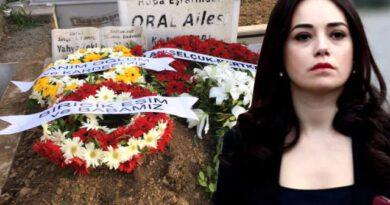 Eşi Serdar Oral'ı toprağa veren Özgü Namal, cenazeye katılamadı sadece çelenk gönderdi