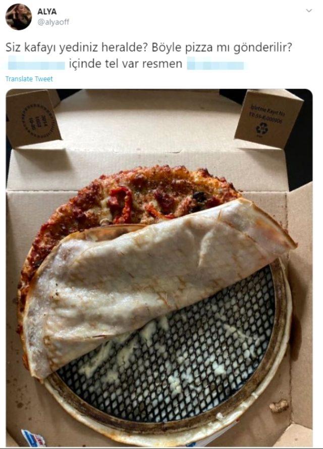 Sipariş verdiği pizzadan tel çıkan şarkıcı Alya, isyan etti: Kafayı yediniz herhalde Magazin Sörvayvır 2020