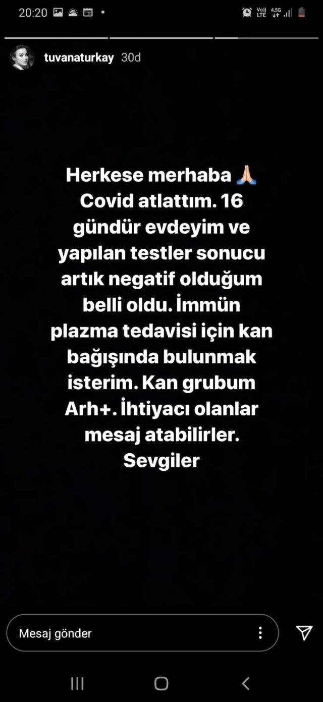 Tuvana Türkay'ın da koronavirüse yakalandığı ortaya çıktı Magazin Sörvayvır 2020