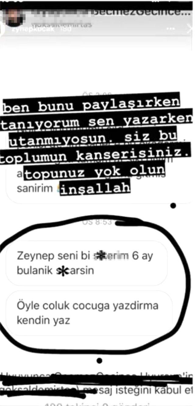 Zeynep Koçak, erkek takipçisinin müstehcen mesajını ifşa etti Magazin Sörvayvır 2020