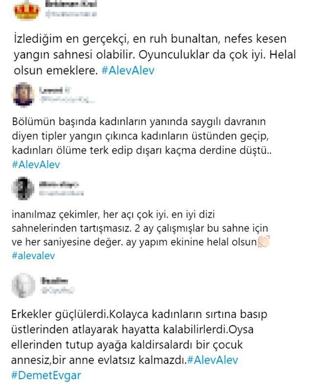 Alev Alev dizisindeki gerçek yangın sahnesi izleyicilerden tam not aldı Magazin Sörvayvır 2020