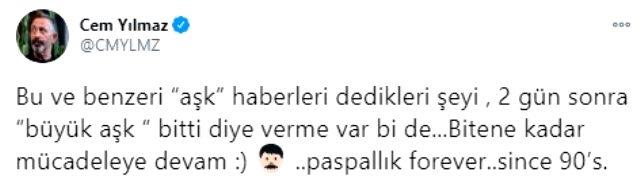 Cem Yılmaz, Saadet Özsırkıntı ile aşk yaşadığı iddialarına imalı paylaşımla yanıt verdi Magazin Sörvayvır 2020