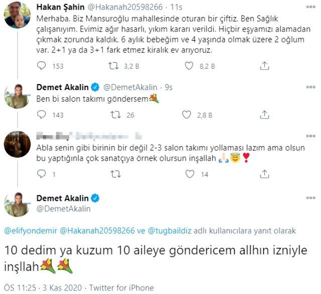 Demet Akalın, İzmir'deki depremzedelere yardım eli uzattı Magazin Sörvayvır 2020