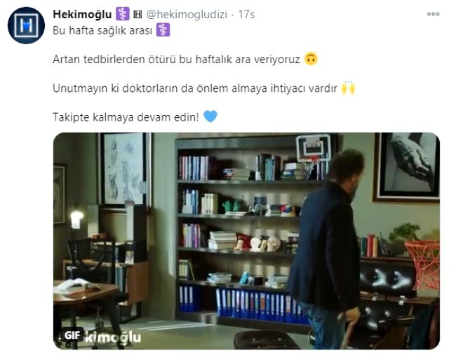 Hekimoğlu dizisinin çekimleri koronavirüs tedbirleri nedeniyle 1 hafta durduruldu Magazin Sörvayvır 2020