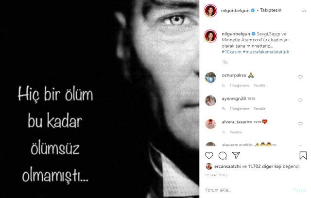 Türkiye tek yürek oldu! Ünlü isimlerin 10 Kasım paylaşımları duygulandırdı Magazin Sörvayvır 2020